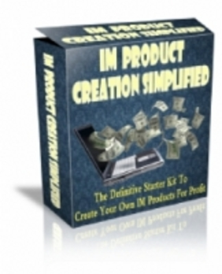 Product picture IM Product Creation Simplified + MRR