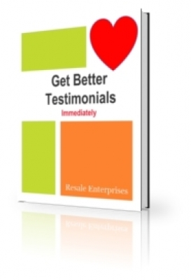Product picture Get Better Testimonials Immediately