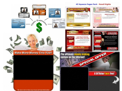 Product picture Squeeze Pages Package + BONUS Articles Marketing